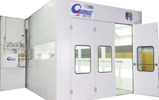 TWO Garmat 3000 state-of-the-art downdraft spray booths